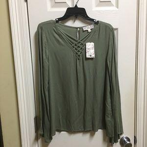 Olive blouse